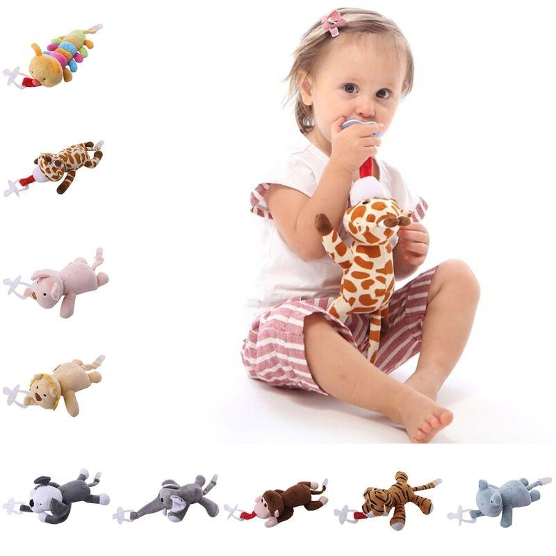 pacifier chain clip plush animal toys soother
