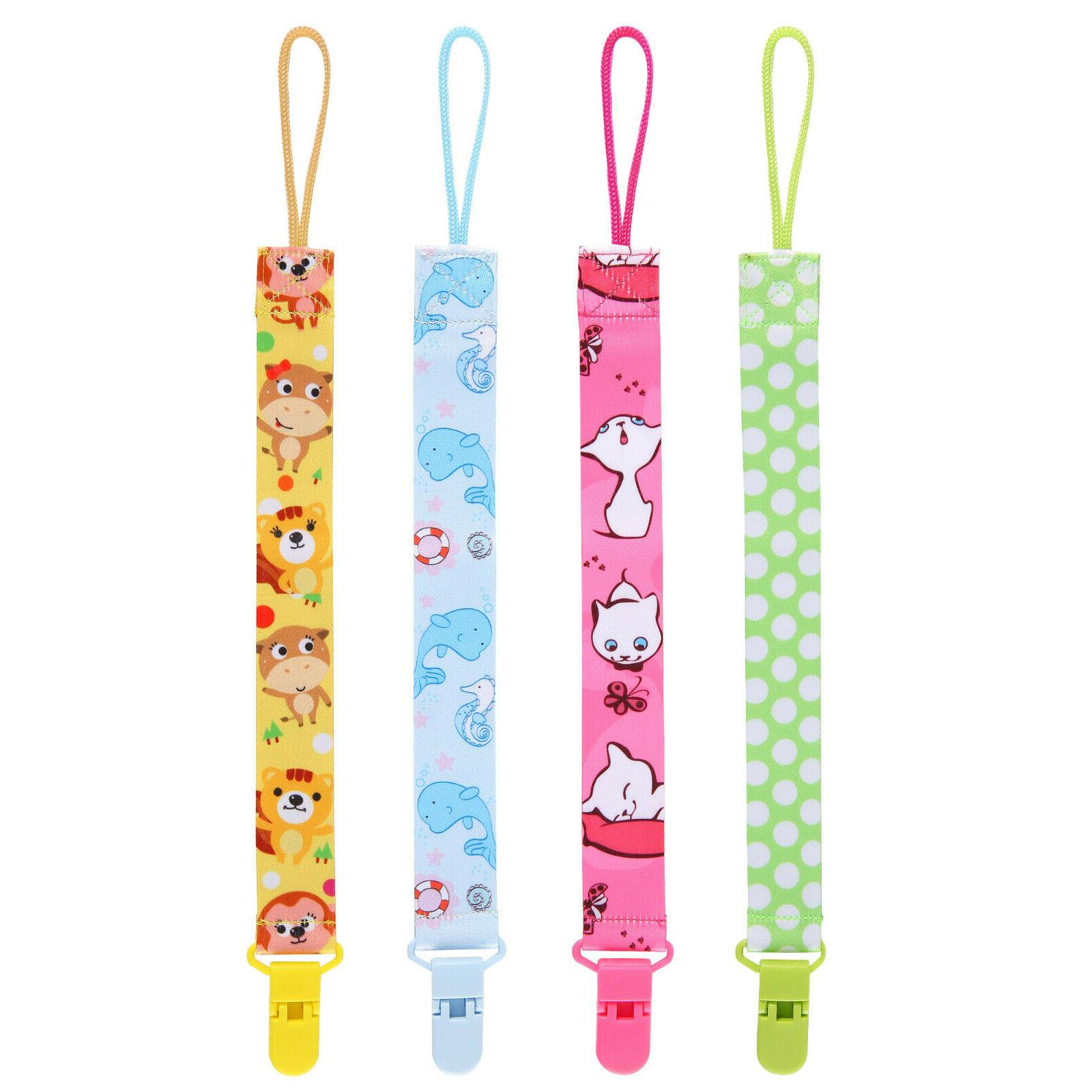 Pacifier Pacifier Clips 4 Pacifier Holder for Boys Girls