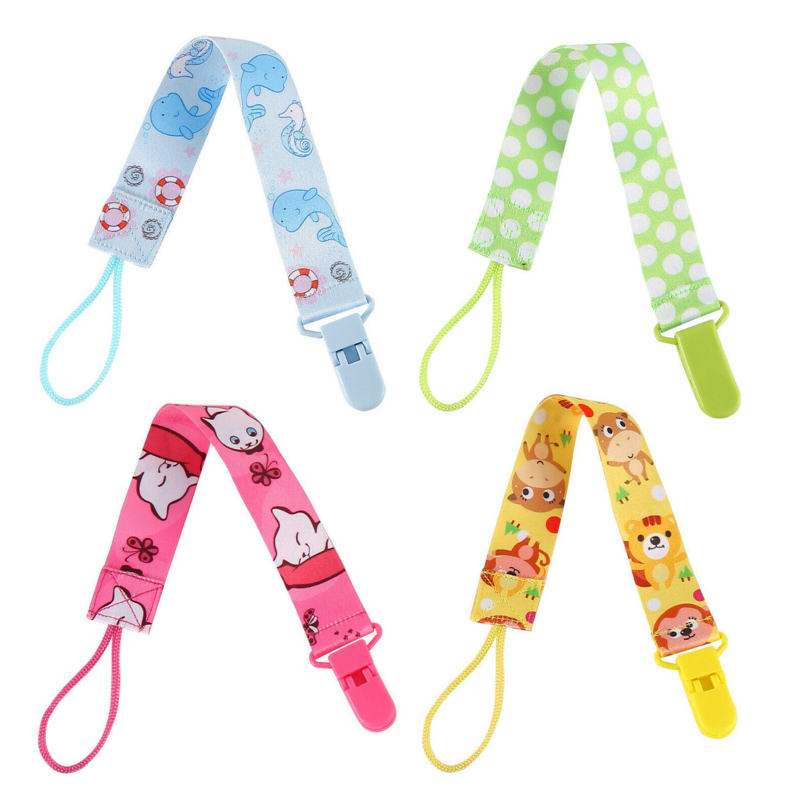 Pacifier Clips 4 Holder Girls