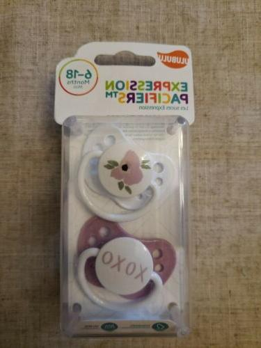 pacifiers 6 18 months poppy and xoxo