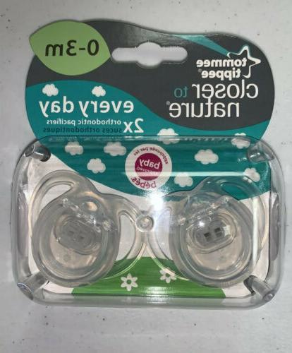Tommee Tippee Pacifiers Orthidontic Two Pack Day