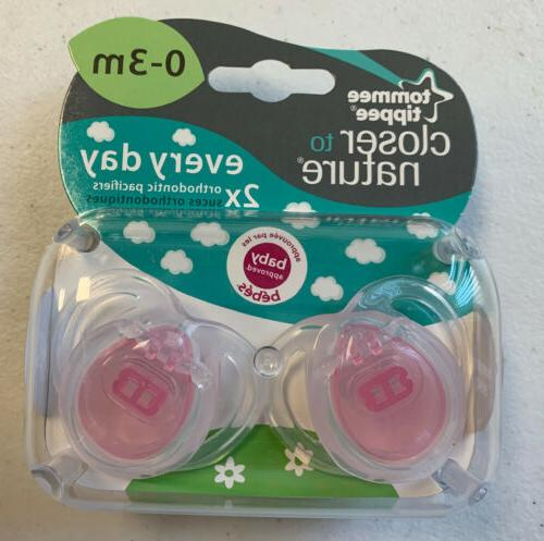 pacifiers pink orthidontic 0 3 months baby