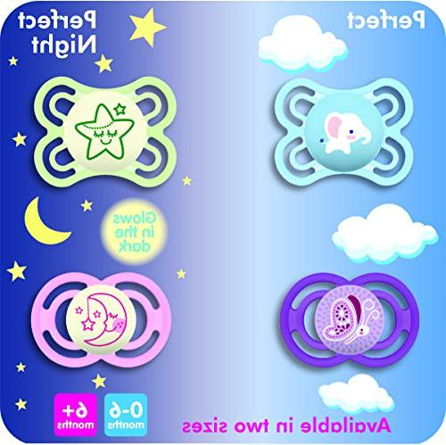 MAM Pacifier 6+ for Breastfed Comfort Oral 'Perfect' Collection, Boy,