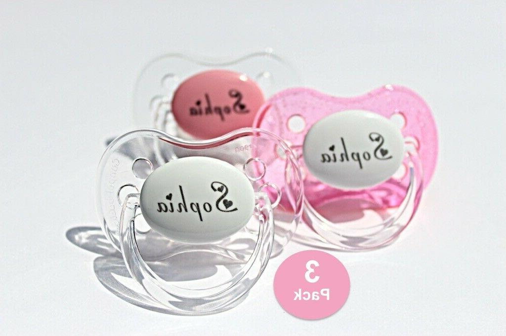 personalized pacifier 3 pack custom pacifier baby
