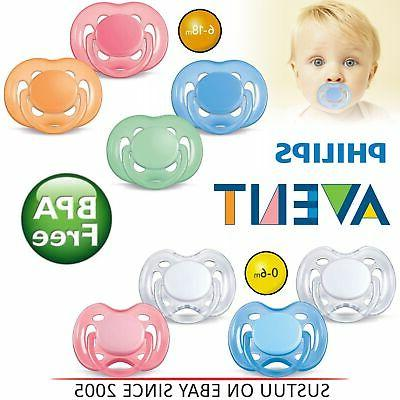 philips freeflow orthodontic dummy pacifier baby silicone
