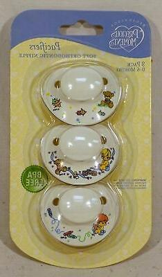 precious moments 3 pack pacifiers bpa free