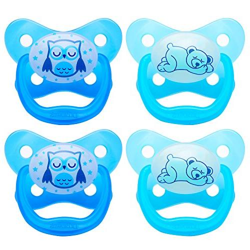 Dr. Brown's Glow Pacifier, Stage 3 Blue,