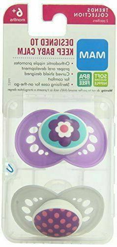 MAM Silicone Pacifier Discontinued Manufacturer 1 pack of 2