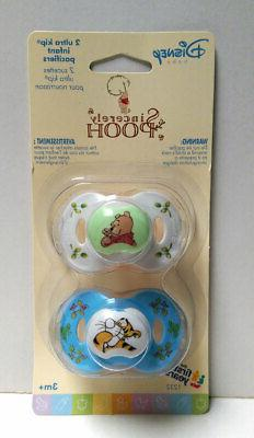 Sincerely WINNIE THE POOH 2-pack Pacifiers 3+Mo The First Ye