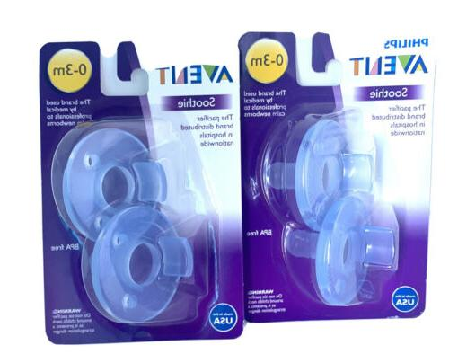 soothie pacifiers 0 3 months blue brand