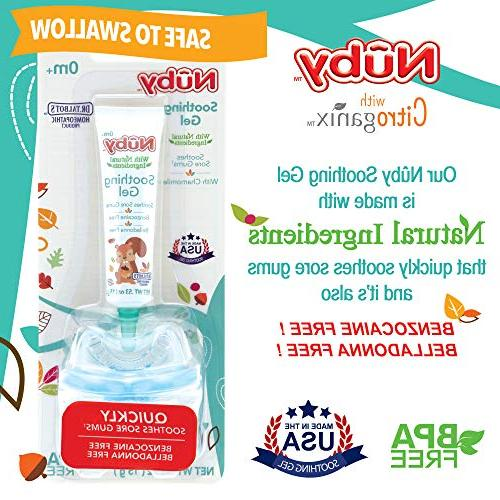 Nuby Natural for with Bonus 0.53 Ounce, Free, Belladonna Free