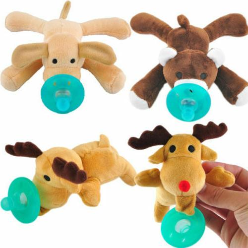 Toddler Baby Soothie Boy Girl Kids Pacifiers Cuddly Plush