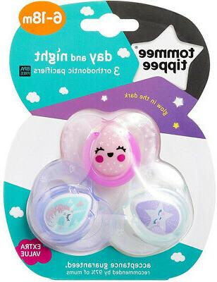 Tommee Night Pacifiers, With BPA-Free, 3