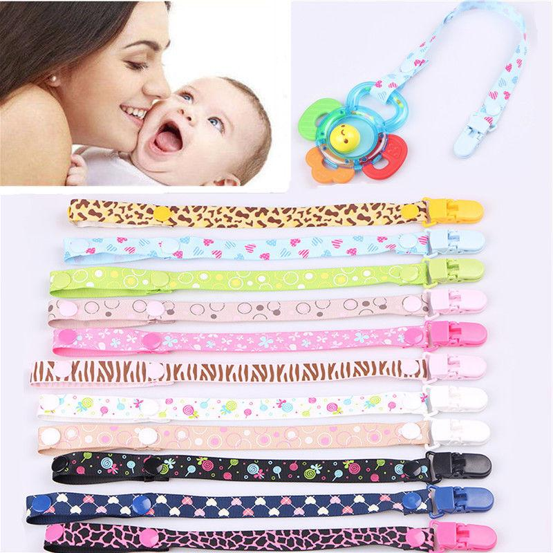 unisex infant baby dummy pacifier holder clip