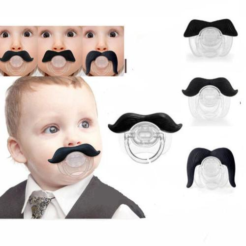 US Funny Teeth Mustache Baby Kids Infant Pacifier Orthodonti