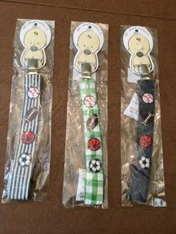 Mud Pie Lil Suckers Boys Pacifier Clips , Choose from 3 Desi