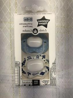 Tommee Tippee Little London Ortho Pacifier Soothie Binky Blu