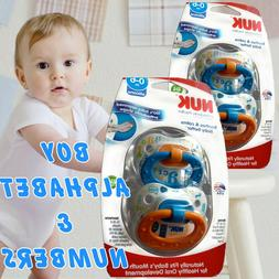 LOT 4 NEW BOY SILICONE NUK ORTHODONTIC PACIFIERS NEW IN PACK