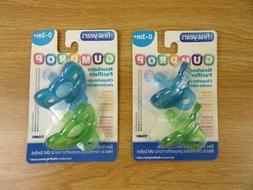 Lot of 2 ~ The First Years GumDrop Newborn Pacifier Blue/Gre