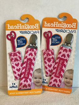 LOT OF 2 BooginHead PaciGrip Pacifier Clip and Pacifier Hold