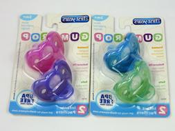 Lot Of 2 Packs The First Years GUMDROP Newborn Pacifiers BPA