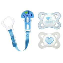 MAM Pacifiers and Baby Pacifier Clip, Baby Pacifier 0-6 Mont
