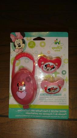 Mickey/Minni Mouse Pacifiers & Pacifier Case