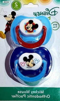 Disney Mickey Mouse 2 Pack Orthodontic Pacifier Set Blue one