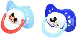 Disney Mickey Mouse 2 Pack Orthodontic Pacifier Set