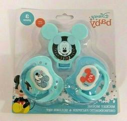 Disney Mickey Mouse 2 Piece Pacifier and Pacifier Clip Set
