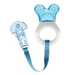 MAM Mini Cooler Teether with Clip, Boy, 2+ Months