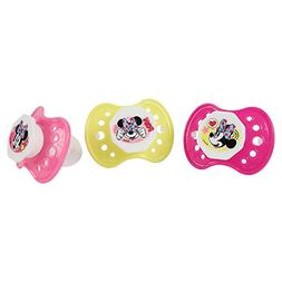 Disney Minnie Mouse Pacifier Set, Pink/Yellow, 3 Count