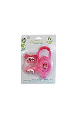 Minnie Mouse Pacifiers & Pacifier Case