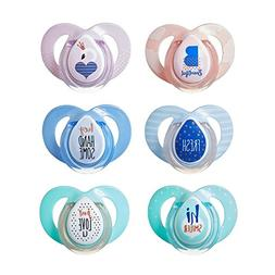 Tommee Tippee Boys'  Moda Orthodontic Pacifiers New/Ages: