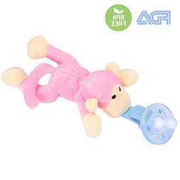 Monkey Pacifier Baby Toys Detachable Safe Soothing Super-Sof