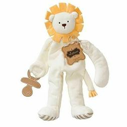 mudpie lion baby plush pacifier holder lovey
