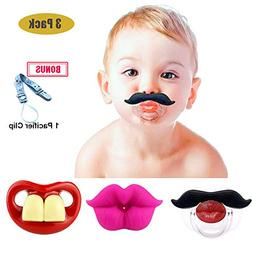 Funny Baby Mustache Pacifiers, Maberry Soft Silicone Cute Pa