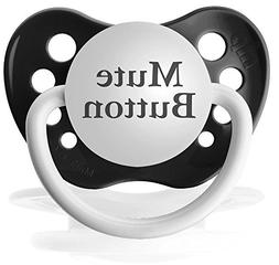 Personalized Pacifiers Mute Button Pacifier, Black