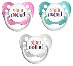Mute Button Pacifier Set - Ulubulu - Girls - 0-18 months - S