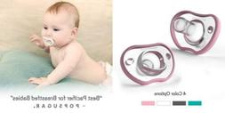 Nanobebe Pacifiers - Orthodontic, Curves Comfortably with fa