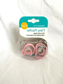 nanobebe Newborn Pacifiers 0-3 Months, Orthodontic, Soft Sil