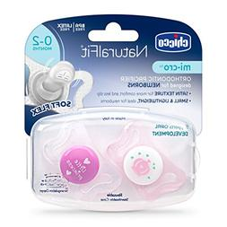Chicco NaturalFit micro Newborn Pacifier, Pink, 0-2 Months