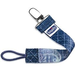 Chicco NaturalFit Fashion Pacifier Clip, Denim
