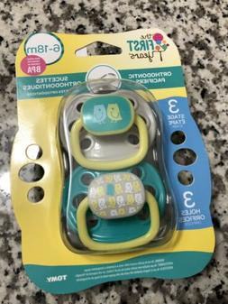 Stage 3 The First Years Animal Print Orthodontic Pacifier 2 Pack 6-18 Months
