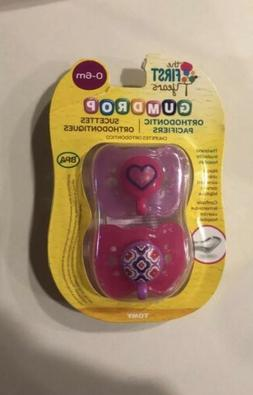 NEW The First Years 2 Piece Gumdrop Newborn Orthodontic Paci