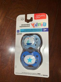NEW Playtex Baby Binky Orthodontic, 2 Silicon Pacifiers, 0-6