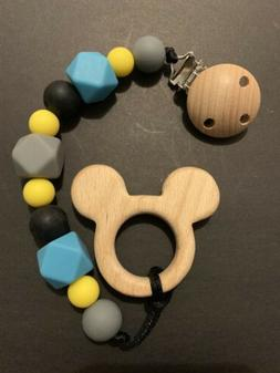 NEW Boy Mickey Baby Soother Toy and  Pacifier Clip Chain Hol