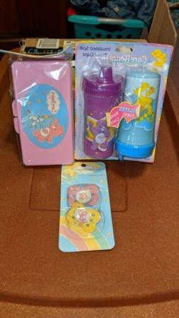 New Care bear Bears Pacifier Set Sippy Cups Baby wipe case