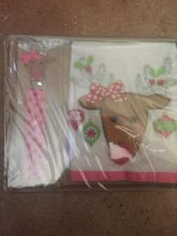 New! Mud Pie Holiday Christmas Baby Reindeer Pacy Pacifier C