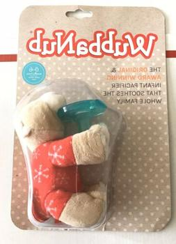 NEW WubbaNub Infant Pacifier 0-6 Months Red Pajama Bear